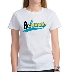 flag of bahamas typography  T-Shirt on CafePress.com
