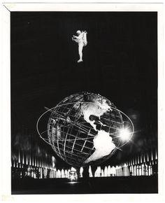 Jet Man Flying Over Unisphere New York World's Fair), ca. 1964