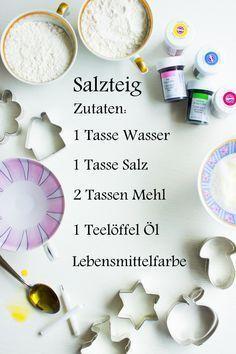 pfefferminzgruen: Mini Kerzenhalter aus Salzteig Mehr