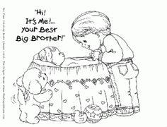Big Sister Coloring Page | Big Sister | Pinterest | Babies