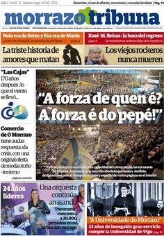 A edición impresa de novembro  nº 15 de @MORRAZOTRIBUNA  xa circula polo #Morrazo,