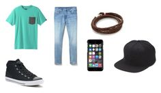 A menswear look from August 2017 featuring mens pocket t shirts, mens stretch jeans and mens black sneakers. Browse and shop related looks. Black Sneakers, Stretch Jeans, Milan, Gap, Men's Fashion, Converse, Menswear, Shoe Bag, Polyvore