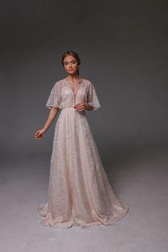 Lace Wedding Dress, Satin Wedding Dress, Open Back Wedding Dress, Fairy Wedding Dress, Bohemian Wedd Fairy Wedding Dress, Open Back Wedding Dress, Bohemian Wedding Dresses, Long Wedding Dresses, Wedding Gowns, Lace Wedding, Chic Wedding, Unique Dresses, Bridal Gowns
