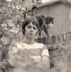 Paul McCartney with Cat