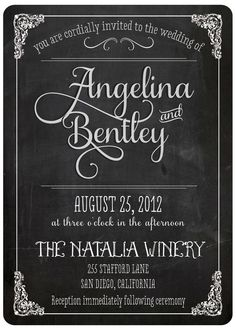 Vintage Wedding Invitation - Angelina (set 3) - Nostalgic Imprints
