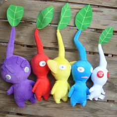 Peluches de los pikmins | La Guarida Geek