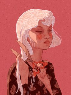 """Illustration by """"when she finally was ready for change she looked back one last time And smiled . Thank you to all of you who have done a redraw of my… Pretty Art, Cute Art, Character Illustration, Illustration Art, People Illustration, Character Inspiration, Character Art, Art Sketches, Art Drawings"""