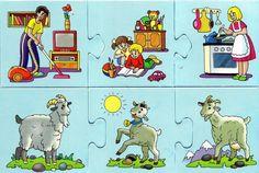 CoSqUiLLiTaS eN La PaNzA BLoGs: PUZZLES (TEMÁTICA ANIMALES Y PARTES DE LA CASA)