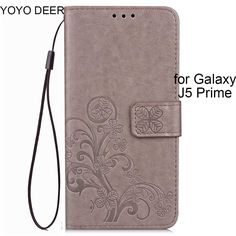 Case for Samsung Galaxy J5 Prime 2016 Lucky Clover Design Wallet Card Holder Stand Flip Phone Bags Cover for J5 Prime #Affiliate