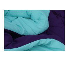 Caribbean Ocean/Downtown Purple Reversible College Comforter - Twin XL