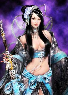 warriors women fantasy Asian art