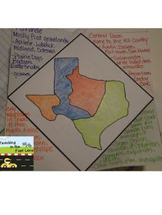 Regions Of Texas Map 4th Grade.160 Best 4th Grade Texas History Images In 2019 Texas