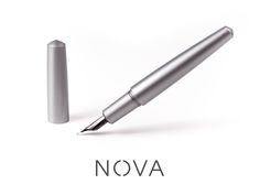 """Simplicity is the ultimate sophistication"". A minimal fountain pen in solid titanium or aluminium."