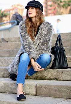@roressclothes closet ideas #women fashion outfit #clothing style apparel 2015 Fashionable Outfit with Fur Coat