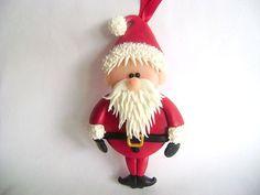 Santa Ornament Santa Claus Christmas by PaisleyandParadise on Etsy