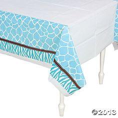 Wild Safari Blue Table Cover $3.50