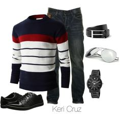 Men's Casual by keri-cruz on Polyvore featuring Kenneth Cole, Urban Boundaries, Two Stoned and Burberry
