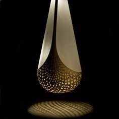 David Trubridge Design Basket of Knowledge - Kete Aronui Contemporary Chandelier, Modern Contemporary, Pendant Light Fixtures, Pendant Lighting, Bamboo Plywood, Element Lighting, Metal Screen, Cool Lamps, Home Lighting
