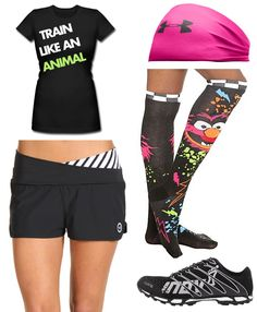 I want this outfit! I love the colors and Animal!!! #crossfit #cantstop #wontstop
