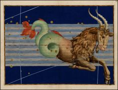 Capricorn from Rare Book: Johann Bayer's Celestial Atlas, Augsburg / 1603