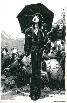 Death by Chris Bachalo - Visit: http://angelakamcomicart.wordpress.com/