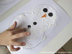 snowman puffy paint