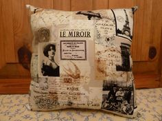 18 x 18 Cushion/pillow Reversible You choose fabric by Maisonvogue, $25.00