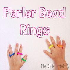 Perler Bead Rings by Maker Mama