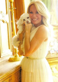 Kathie Lee Gifford wearing Adrianna Papell in this months issue of Life + Dog!