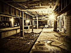 Abandoned train platforms