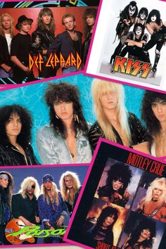 My favorite 80s band. Cinderella, kiss, motley Crüe, poison.  Def leppard.