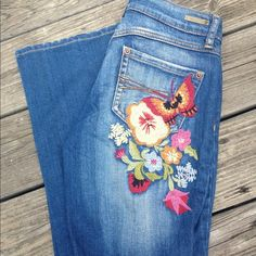 Hippie Embroidered Jeans 4 from Cynthia's closet on Poshmark