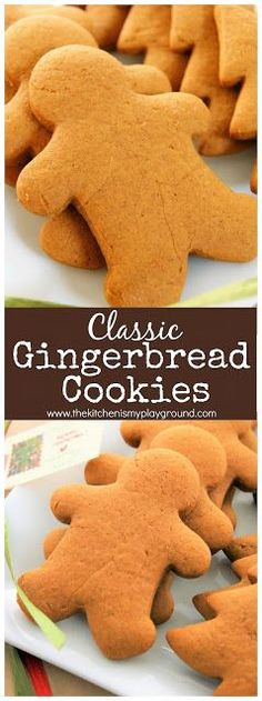 Classic Gingerbread Cookies ~ The best classic gingerbread cookies recipe for soft cookies. It wouldn't be Christmas without a batch of these beauties! #Christmas #Christmascookies #gingerbreadcookies  www.thekitchenismyplayground.com