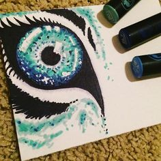 Awesome blue toned wild cat eye which was created by @aubs_art_4_life with their Chameleon Pens.   #chameleonpens #blue #green #eyes #pretty #pens #art #illustration #art #wild #cats #wildcats