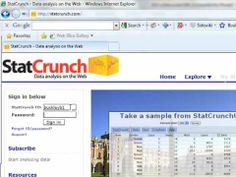 Creating a StatCrunch Account Statistics Help, Googie, Homework, Accounting, College, Create, School, University, Colleges