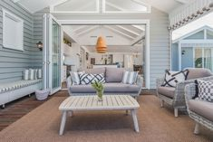 Hamptons style coastal beach house custom design and construct by evermore Alfresco Area, Beach House Interior Design, Home, House With Porch, Outdoor Rooms, House, Outdoor Living Rooms, Outdoor Furniture Sets, Hamptons Beach House