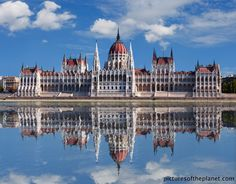 The Hungarian Parliament building & the Danube in Budapest, Hungary