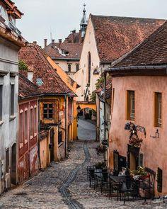 Medieval Sighisoara, Romania 🇷🇴 Photo by Medieval Town, Europe Destinations, World Heritage Sites, Romania, Teak, Beautiful Places, City, Instagram, Jet Plane
