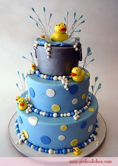 Click to enlarge Duckies in a Tub Cake