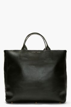A.SAUVAGE DARK GREEN LEATHER TOTE