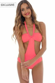 Orchid Label Swimwear 'Ava' Coral Monokini by Orchid Label 2013
