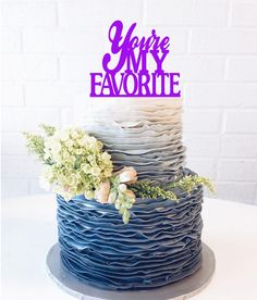 You're My Favorite Wedding Cake Topper Youre My by 1TheCherryOnTop