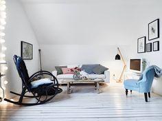 Blue details in Kålltorp, Gothenburg | Apartment for sale via broker Stadshem | Photo by Janne Olander