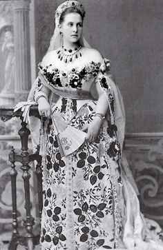 Olga K. Romanov (the last queen of Greece) - The great-grandmother of Charles, Prince of Wales