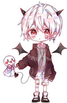 Do you love a sweet devil? Anime Neko, Cute Anime Chibi, Kawaii Chibi, Cute Anime Boy, Kawaii Anime Girl, Kawaii Art, Manga Anime, Anime Naruto, Kawaii Drawings