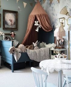 20 Baby Playroom Interior with Solid Color Cotton Bed Canopy Inspiration Boys Bed Canopy, Baby Canopy, Bed Canopy Diy, Canopy Curtains, Playroom Wall Decor, Baby Playroom, Baby Bedroom, Girls Bedroom, Baby Room Design