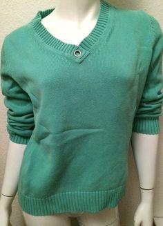 Kaufe meinen Artikel bei #Kleiderkreisel http://www.kleiderkreisel.de/damenmode/v-ausschnitt/111898114-pullover-v-ausschnitt-40-m-turkis-mint-baumwolle-hipster-chic