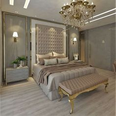 The way you decorate your home is somehow similar to choosing beautiful clothes to wear on a daily basis. An impressive interior decoration of your home or office is essential for your own state of mind, if nothing else. Modern Luxury Bedroom, Luxury Bedroom Design, Bedroom Closet Design, Master Bedroom Design, Luxurious Bedrooms, Home Bedroom, Bedroom Decor, Living Room Trends, Bedroom Layouts