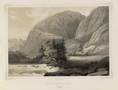 Norge fremstillet i Tegninger - Johan Christian Clausen Dahl - Fortundalen i Sogn.  jpg (4896×3760)