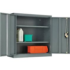 I Would Want To Spray Paint The Black Portion Of The Locking Mechanism But This Is A Good Size 145ish Wall Storage Cabinets Wall Storage Storage